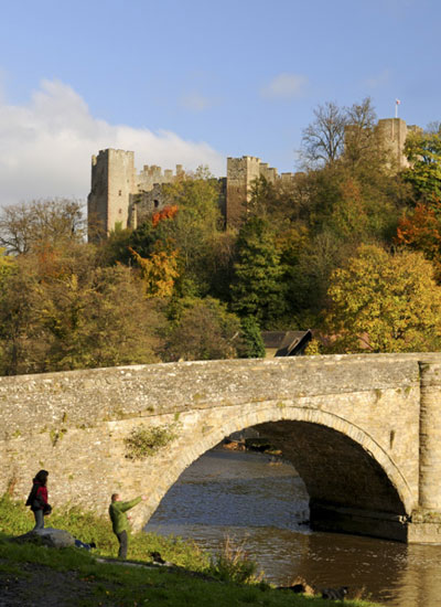 Dinham Bridge and Ludlow Castle (photograph by Mike Heyward)