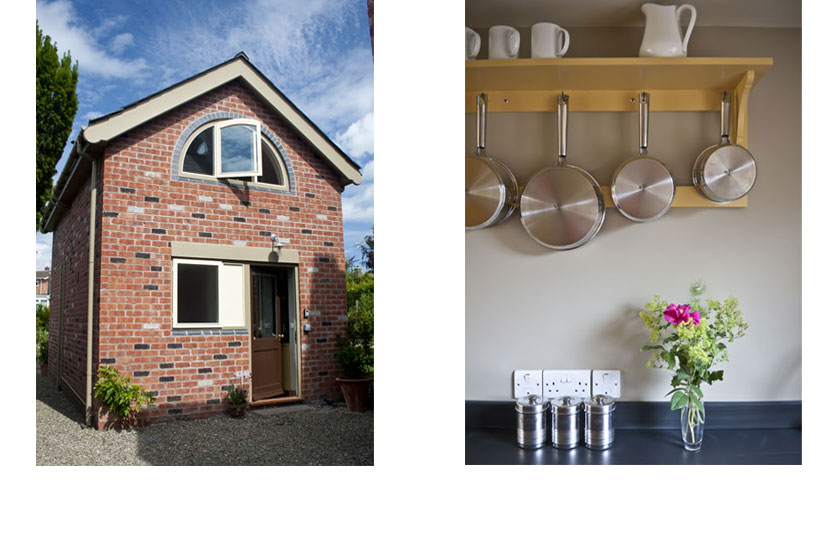 Ludlow Holiday Cottage Exterior and interior detail